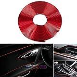 Car Interior Moulding Trim,3D DIY 5 Meters Electroplating Color Film Car Interior Exterior Decoration Moulding Trim Strip line by Auto Parts Club (red)