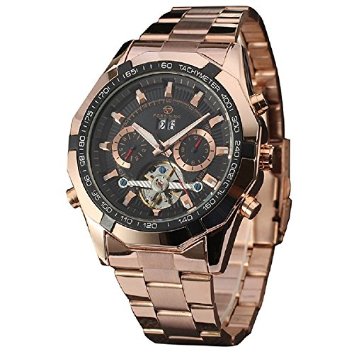 FORSINING-Mens-Analog-Tourbillon-Date-Automatic-Self-Wind-Gold-Stainless-Steel-Band-Watch