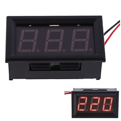 Absolute Native Electronics Red Yb27A Led Ac 60-500V Digital Voltmeter Home Use Voltage Display, 2 Wires Led Displays