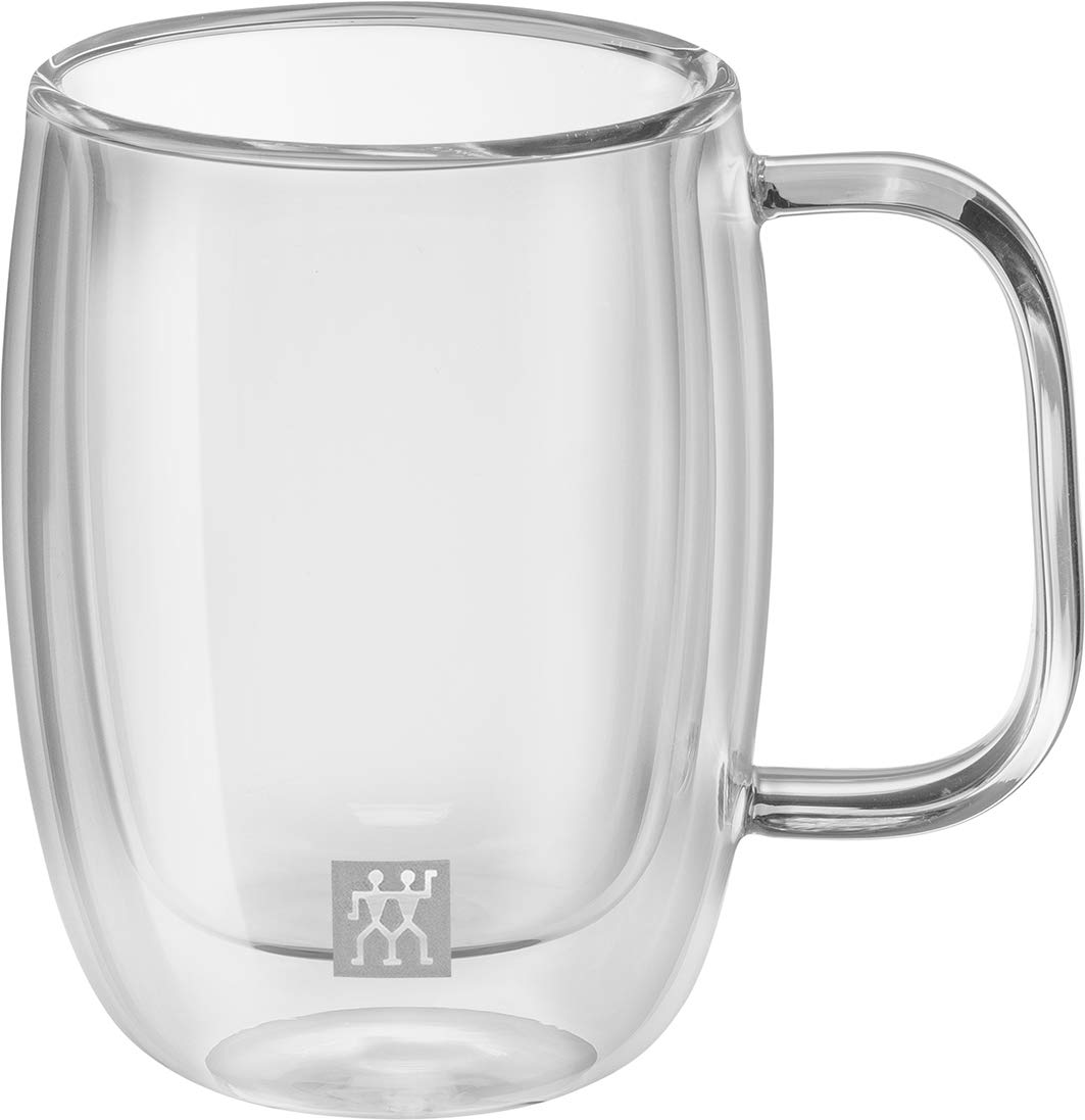 2 Piece Set Glass ZWILLING J.A HENCKELS 39500-111 Sorrento Plus Double Wall Double Espresso Mug