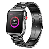 Ayeger Band Compatible with Apple Watch 44mm 42mm Series 4 Series 3,Series 2, Series 1 Men,Women Compatible iWatch Stainless Steel Metal Link Bracelet(Space Grey 44mm 42mm)