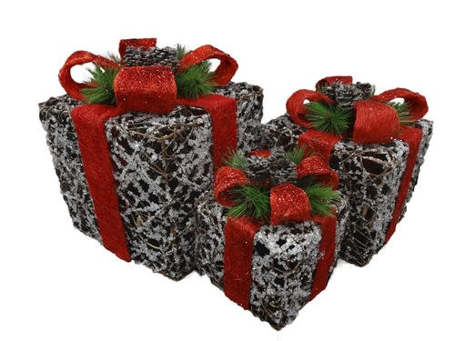 Outdoor Lighted Presents in US - 6