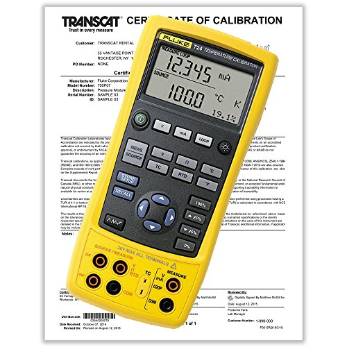 Fluke 724 Temperature Calibrator with Calibration