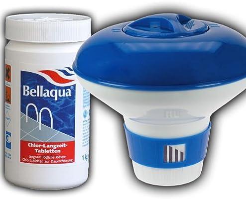 Pool Piscina Dosificador + cloro largo tiempo pastillas 200 g 1 kg ...