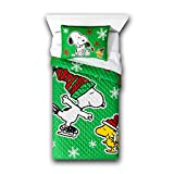 Peanuts Snoopy Kids Children Toddler Holiday Quilt Set (Twin/Full)