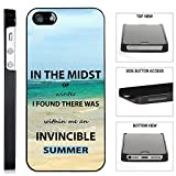 [TeleSkins] - The Invincible Summer - iPhone SE / 5 / 5S Black Plastic Case - Ultra Durable Slim & HARD PLASTIC Protective Vibrant Snap On Designer Back Case / Cover. [Fits iPhone SE / 5 / 5S]