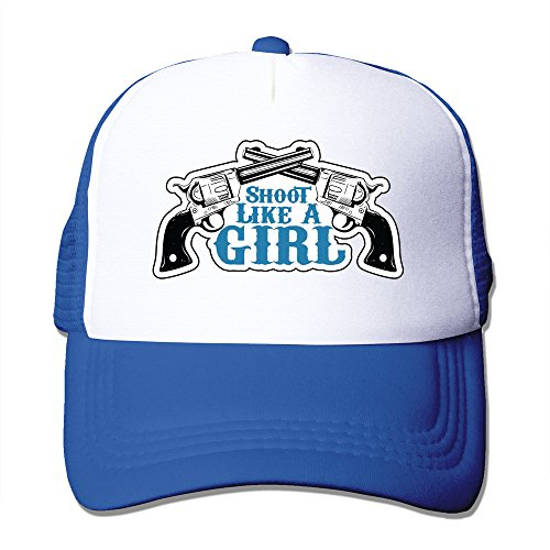 Shoot Like A Girl Mesh Back Baseball Cap Trucker Hats