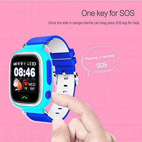 Amazon.com: LEMFO Q90 Samrt Watch for Kids, GPS Tracker Sim ...