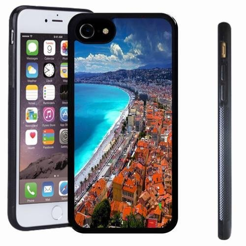 iphone 7 case, SoloShow(R) Slim Shockproof TPU Soft Case Rubber Silicone for Apple iphone 7 [seaside city]