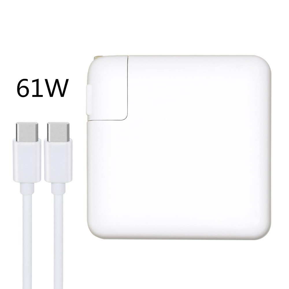 61W USB-C Power Adapter, Type C Charger Compatible with Apple MacBook Pro 13 inch/12 inch, YIDASHUN USB Type C Adapter with Free 6.6ft USB-C to USB-C Cable