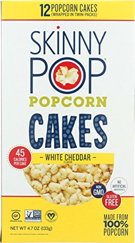 SkinnyPop Popcorn Cakes, White Cheddar, 4.7 Ounce (Pack of 6)