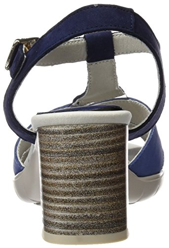 Callaghan 21403, Sandalias con Punta Abierta para Mujer Azul (Marino)