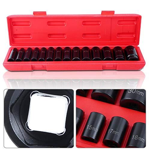 1//2 Drive Impact Socket 12-Point Deep /& Shallow Set 60pcs For Craftsman