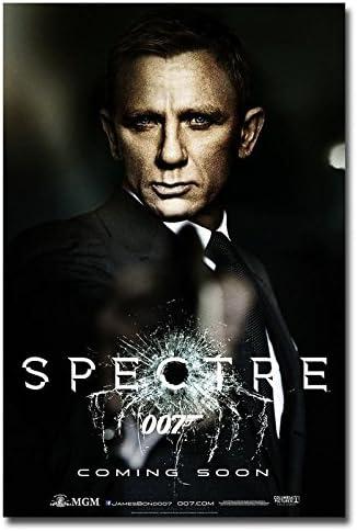 Amazon Com Tomorrow Sunny James Bond 24 007 Spectre 2015 Movie Silk Poster 24x36 007 Posters Prints