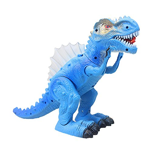 T-Rex Electronic Walking Dinosaur with Flashing Lights and Realistic Animal Sounds (Blue) by Vabliss (Image #7)