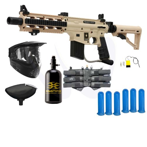 Tippmann US Army Project Salvo Paintball Gun Player N2 HPA Package – Tan