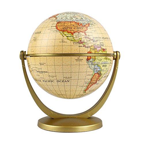 (Estamico Political Antique Ocean Swivel and Tilt Globe, 4 Inches )