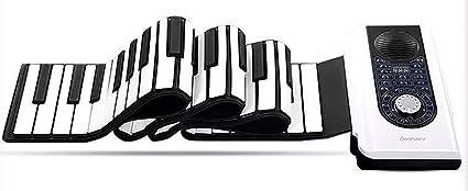 Piano Portátil MIDI USB Bateria De Litio Recargable Elástico De 88 Teclas Para Principiantes Para Enviar