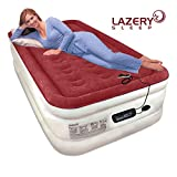 Lazery Sleep Air Mattress Airbed with Built-In Electric 7 Settings Remote LED Pump - Twin 74'' x 39'' x 19''