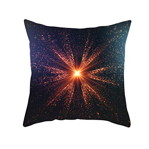 (Throw Pillow Covers, Geometric Print, Fulijie Colorful Square Throw Pillow Case Cushion Cover for Home Decor 18 x18 Inch)