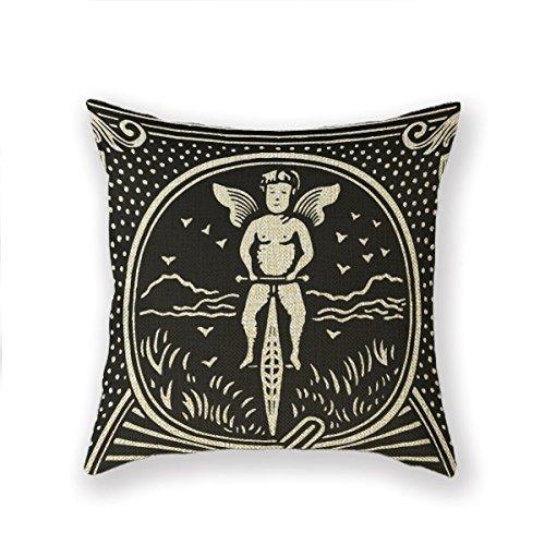 [Customized Standard Pillowcase Joker Ace Poker Jack Throw Pillow 20 X 20 Square Cotton Linen Pillowcase Throw Pillow Cover Cushion] (Ace Snowboard)