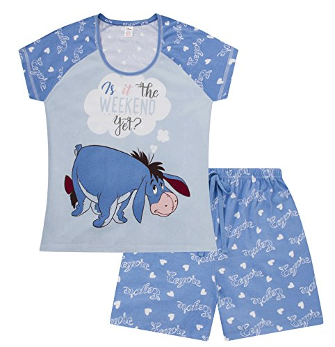 Disney Eeyore is It The Weekend Yet ? Short Ladies Women's Pajama Pjs (L) -