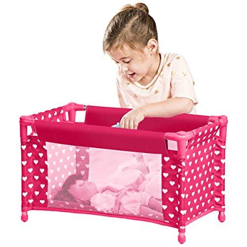 Furniture Doll Crib Playpen Bed Pillow Blanket Carry Bag