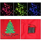 Light up Dog Shirt Costume Xmas Tree Pet LED Clothes Large Dog Hoodie Holiday Pet Sweater For Medium Dogs (Red, L)