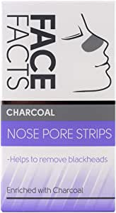 Face Facts Nose Pore Strips, Charcoal, 6 Treatments