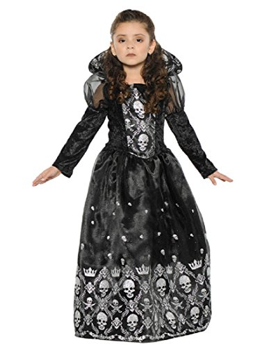 Underwraps Big Girl's Girl's Dark Princess Costume - Large Childrens Costume, Black/White, Large ()