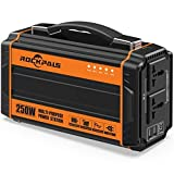 Rockpals 250-Watt Portable Generator Rechargeable Lithium Battery Pack Solar Generator with 110V AC Outlet - 12V Car - USB Output Off-grid Power Supply for CPAP Backup Camping Emergency