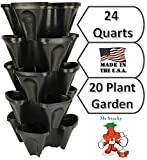 Large 5 Tier Vertical Garden Tower - 5 Black