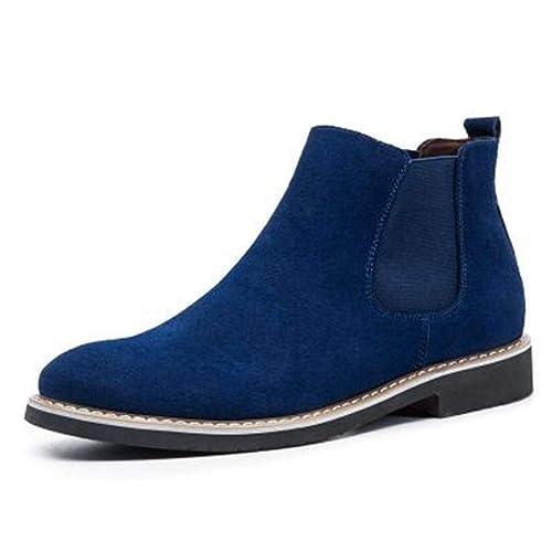 Botas Chelsea Hombre Slip On Botas de Vaquero Hombres Primavera Moda Vacuno Suede Botines: Amazon.es: Zapatos y complementos