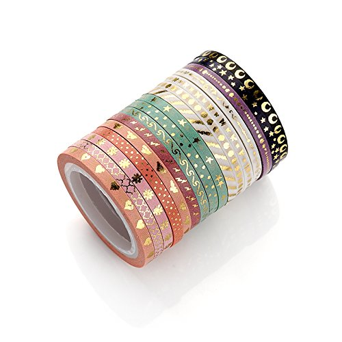 New Foil Gold Washi Paper Tape DIY Japanese Masking Tape Supplies