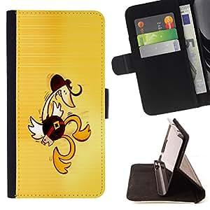 BullDog Case - FOR/Sony Xperia m55w Z3 Compact Mini / - / Western Dancing Duck - Funny /- Monedero de cuero de la PU Llevar cubierta de la caja con el ID Credit Card Slots Flip funda de cuer