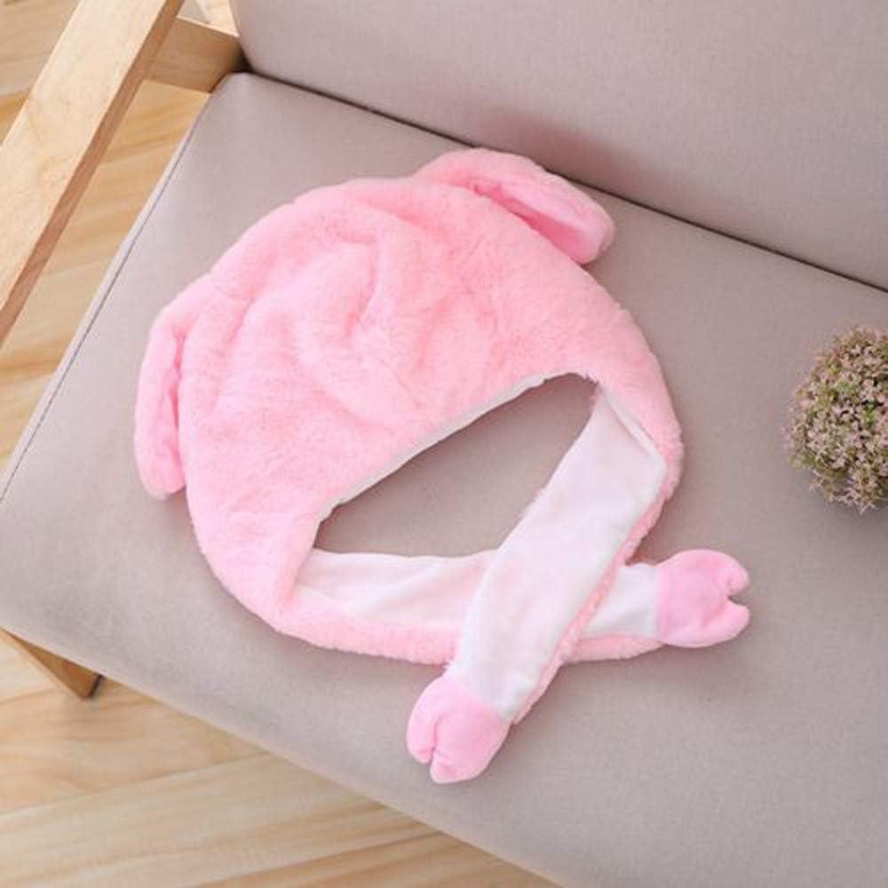 Saitingdianzi Girl Boy Children Funny Gift Cute Animal Long Ear Hat Movable Pop Balloon Cap