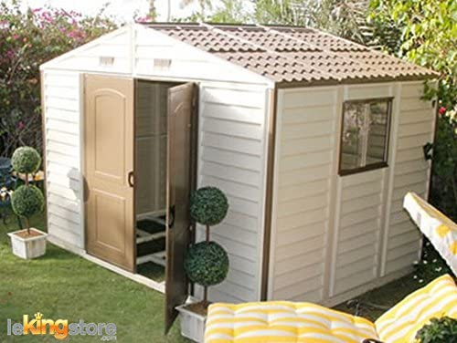 Caseta de jardín PVC, 10 x 8 m²-Woodside 7, 68 Ventana Fundación Kit: Amazon.es: Jardín