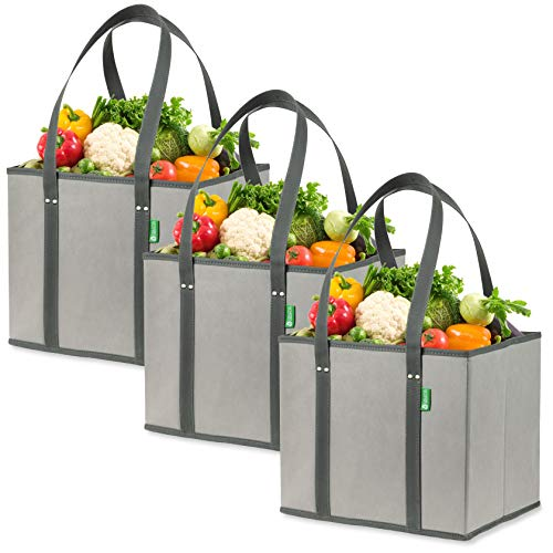 Foldable, collapsible, durable and eco-friendly grocery bags