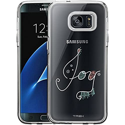 Samsung Galaxy S7 Edge Case, Slim Fit Snap On Cover by Trek Doodle Joy - White Clear Case Sales