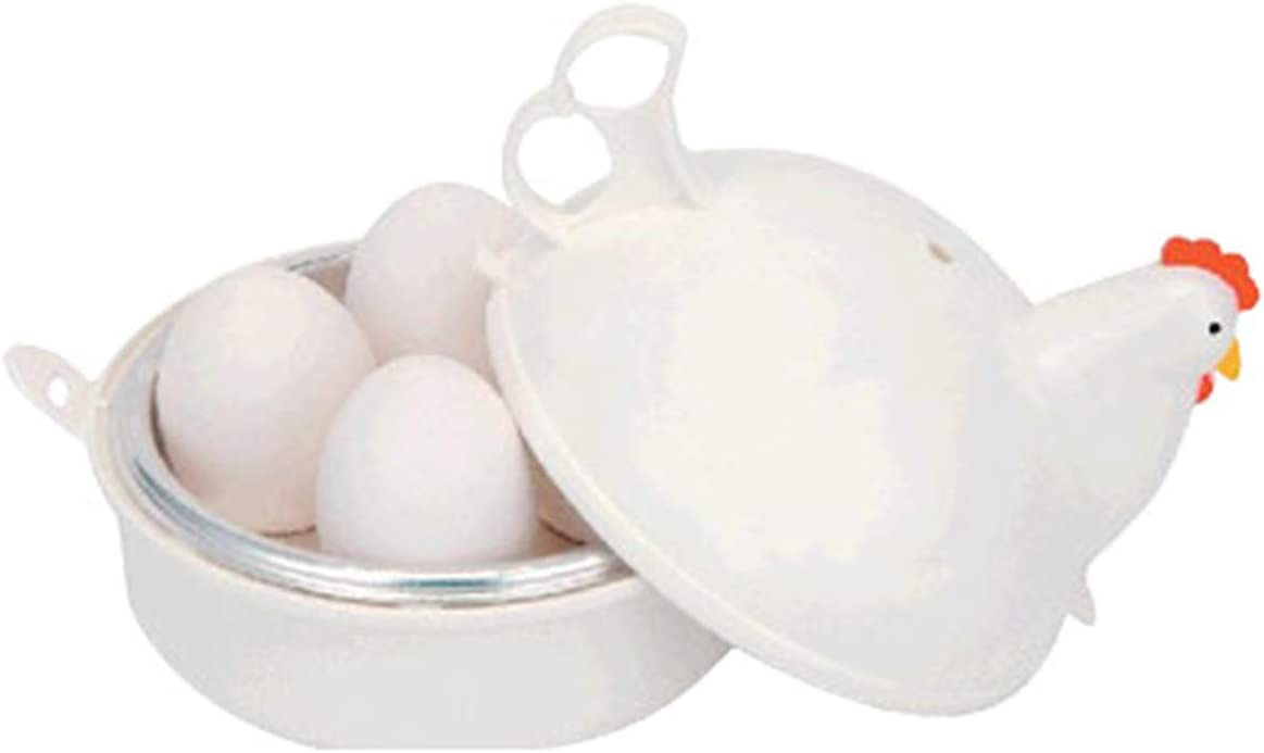 Summerdaisy Microwave Egg Cooker Egg Boiler Kitchen Hardboiled Egg Cooker and Easy Egg Poacher (A)