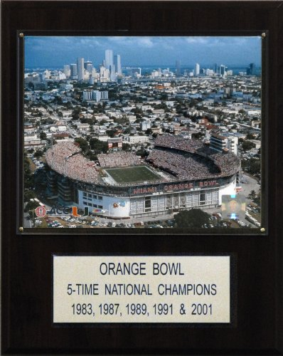 NCAA Football Orange Bowl Stadium Plaque by C&I Collectables