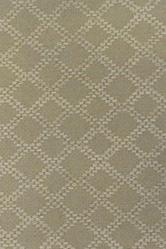 Naomi Diamond Pattern Flannel Backed Vinyl Tablecloth - 60 x 120 Oblong - Natural