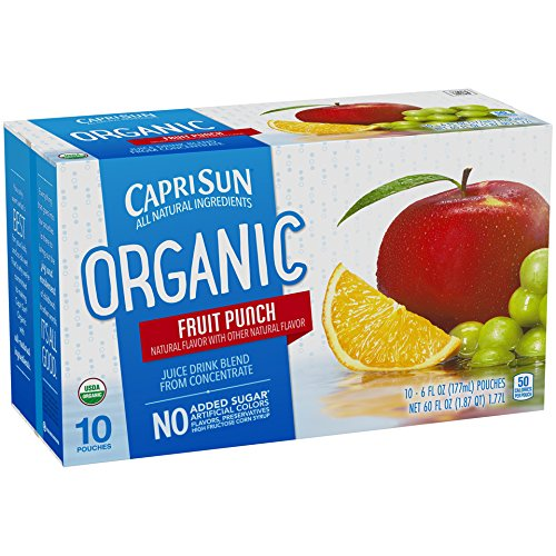 Capri Sun Organic Juice Drink Blend, Fruit Punch, 10 Pouches