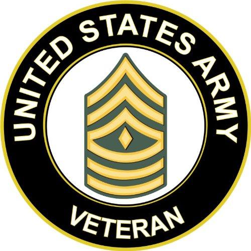 Military Vet Shop U.S. Army First Sergeant Veteran Window Bumper Sticker Decal 3.8