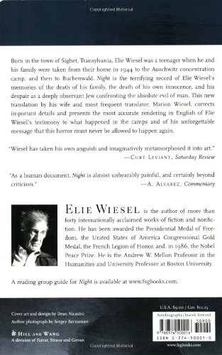 Critical Book Review for Night by Elie Wiesel?