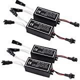 Heart Horse CCFL Inverter 12V Waterproof for Spyder Lights Compatible with BMW Angel Eye Ring Inverter Ballast Replacement 1 for 2 Lamps (4 pcs)