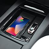 customized coins - topfit Car Center Console Wooden Drawer Storage Box Glasses Box Customized for Tesla (with Wireless Charging)