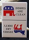 Democrat & Republican CLEAN / DIRTY Sign - Dishwasher Magnet. Election GOP Donald Trump