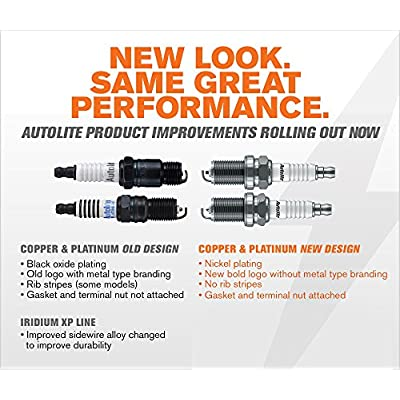 Autolite AP985-4PK Platinum Spark Plug, Pack of 4: Automotive