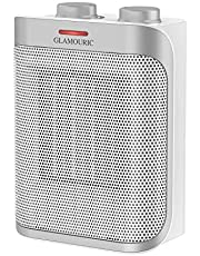 Glamouric Fan Heater Rotation Ceramic Space Heater Electric Heater Adjustable thermostat Overheat protection 1500W ETL Automatic Oscillating Hot/Cool PTC and 2 Heating Settings